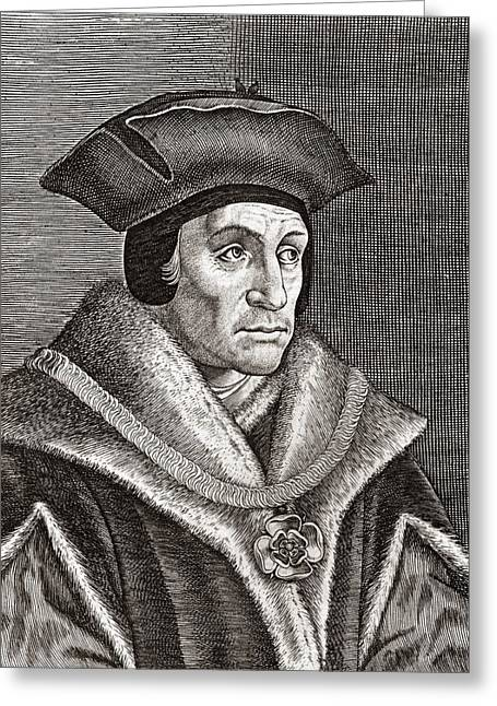 Heroologia Anglica Greeting Cards - Sir Thomas More, English Statesman Greeting Card by Middle Temple Library