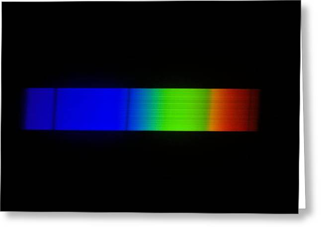 Sirius Greeting Cards - Sirius Emission Spectrum Greeting Card by Dr Juerg Alean