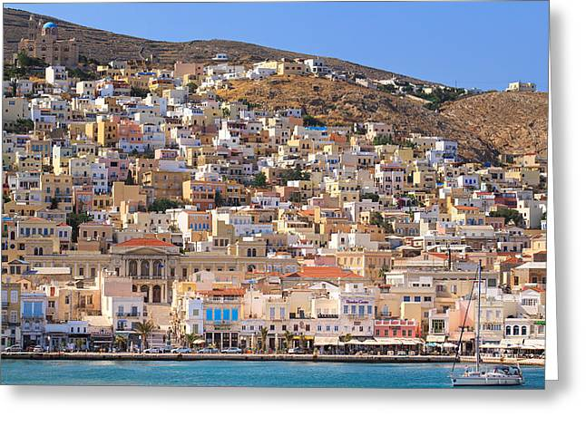 Siros Greece 2  Greeting Card by Emmanuel Panagiotakis