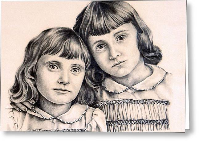 Sisters Greeting Card by Carmen Del Valle