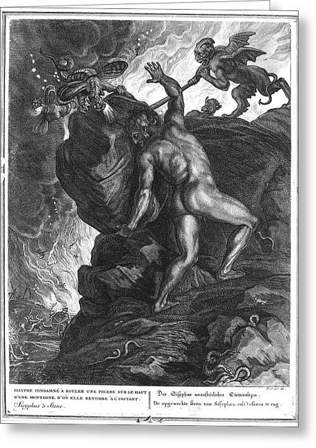 18th Century Greeting Cards - Sisyphus Stone Greeting Card by Granger