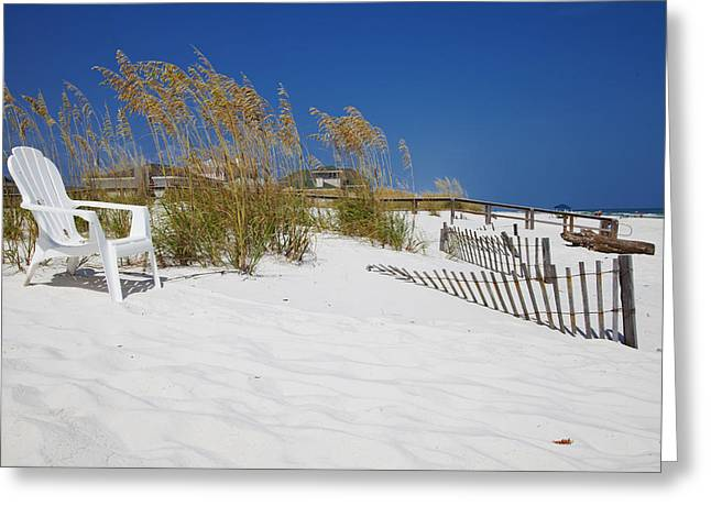 On The Beach Greeting Cards - Sit and enjoy Greeting Card by Toni Hopper