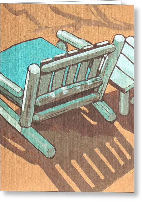 Cushion Paintings Greeting Cards - Sit Back and Relax Greeting Card by Sandy Tracey