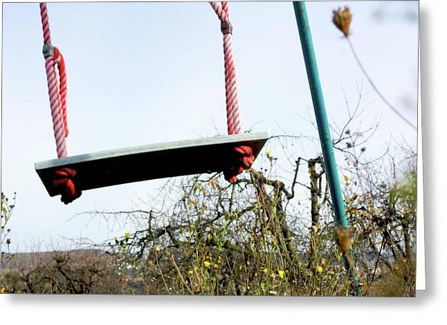 Rope Greeting Cards - Sit of swing Greeting Card by Bernard Jaubert