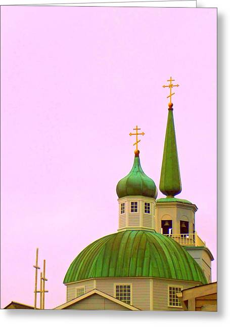 Alaskan Architecture Greeting Cards - Sitka Russian Orthodox 1 Greeting Card by Randall Weidner