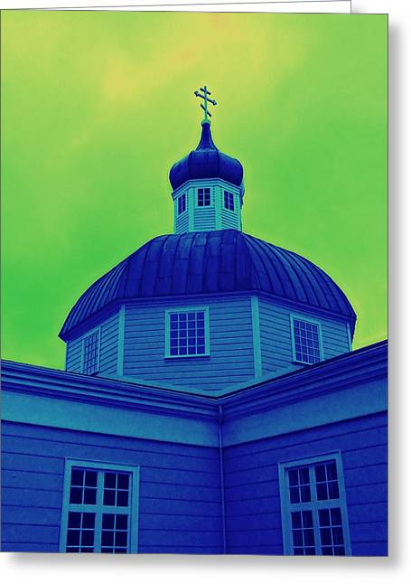 Alaskan Architecture Greeting Cards - Sitka Russian Orthodox 2 Greeting Card by Randall Weidner