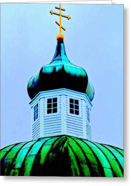 Alaskan Architecture Greeting Cards - Sitka Russian Orthodox 4 Greeting Card by Randall Weidner