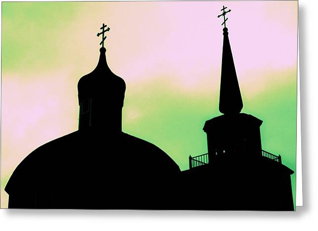 Alaskan Architecture Greeting Cards - Sitka Russian Orthodox 5 Greeting Card by Randall Weidner