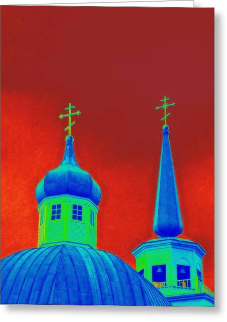 Alaskan Architecture Greeting Cards - Sitka Russian Orthodox 6 Greeting Card by Randall Weidner
