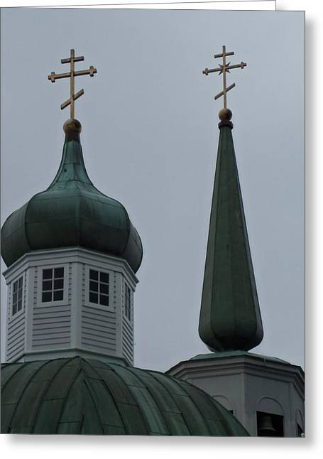 Alaskan Architecture Greeting Cards - Sitka Russian Orthodox 7 Greeting Card by Randall Weidner