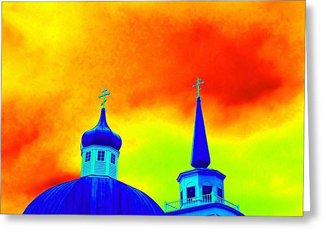 Alaskan Architecture Greeting Cards - Sitka Russian Orthodox 8 Greeting Card by Randall Weidner