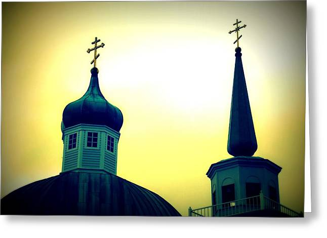 Alaskan Architecture Greeting Cards - Sitka Russian Orthodox 9 Greeting Card by Randall Weidner