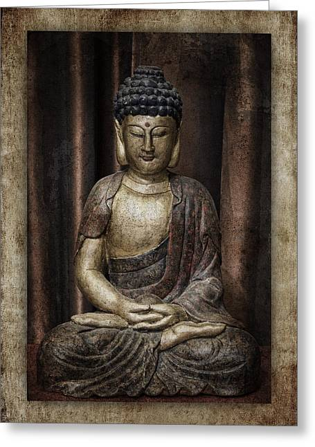 Opulent Greeting Cards - Sitting Buddha Greeting Card by Carol Leigh