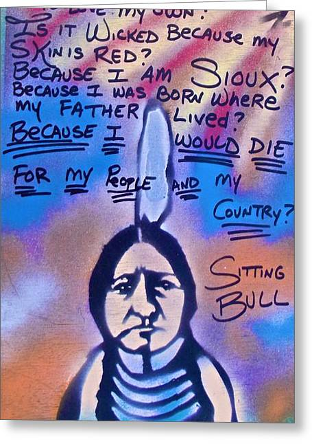 99 Percent Greeting Cards - Sitting Bull...country Greeting Card by Tony B Conscious