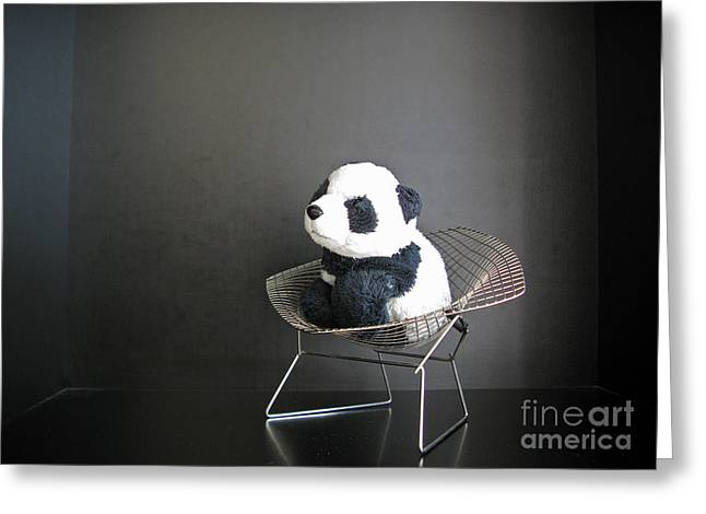 Crafts For Kids Greeting Cards - Sitting meditation. Floyd from Travelling Pandas series. Greeting Card by Ausra Paulauskaite