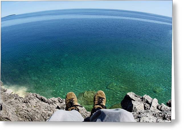 Cliffs Photographs Greeting Cards - Sitting on a Cliff Greeting Card by Cale Best
