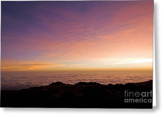 Scotts Scapes Greeting Cards - Siunrise Kilimanjaro Greeting Card by Scotts Scapes