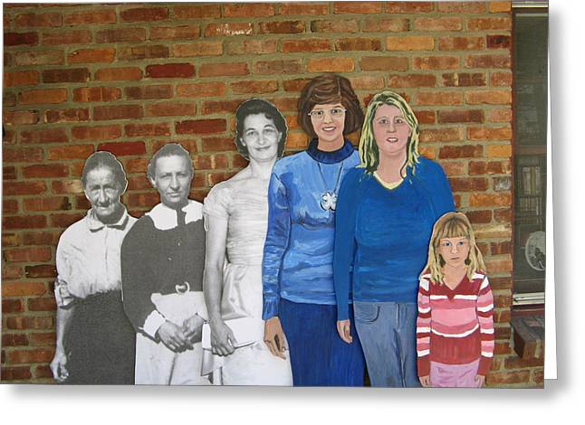 Genealogy Photographs Greeting Cards - Six Generations of Women Greeting Card by Betty Pieper