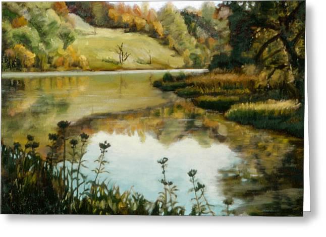 John Clum Greeting Cards - Six Mile Creek Ithaca Greeting Card by John Clum