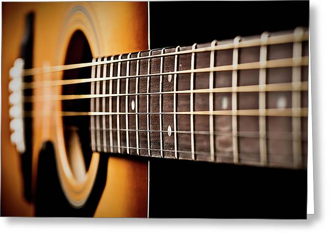 """six String"" Greeting Cards - Six String Guitar Greeting Card by  Onyonet  Photo Studios"