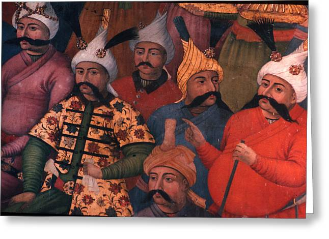 Six sultans in Iran Greeting Card by Carl Purcell