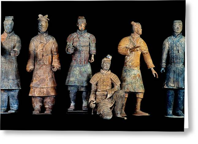 Chinese Architecture And Art Greeting Cards - Six Types Of Soldiers Were Found Among Greeting Card by O. Louis Mazzatenta