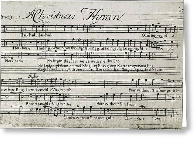 Flagg Greeting Cards - Sixteen Anthems Music, 1766 Greeting Card by Granger