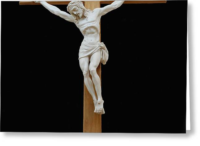 SJNCC CRUCIFIX 1 TWO K ELEVEN Greeting Card by Carl Deaville