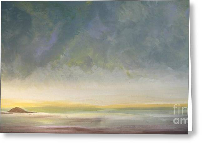 Best Sellers -  - Storm Clouds Cape Cod Greeting Cards - Skaket - Waiting on the Storm Greeting Card by Jacqui Hawk