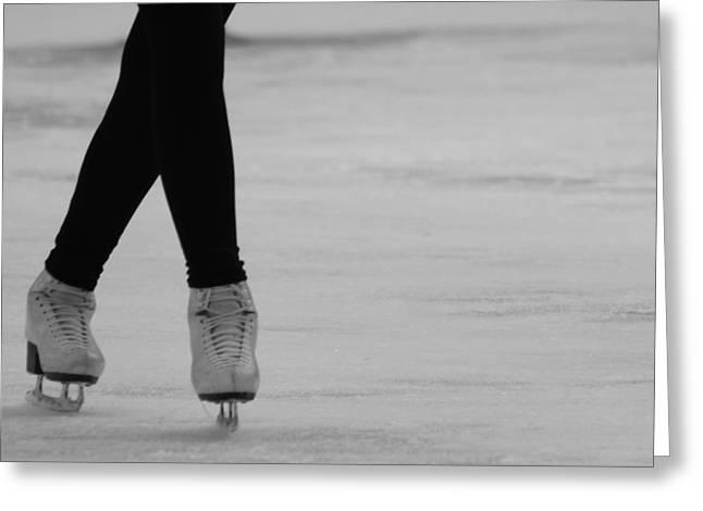 Skating Greeting Card by Lauri Novak