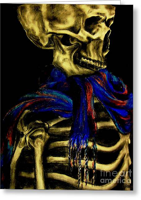 Skeleton Fashion Victim Greeting Card by Tylir Wisdom