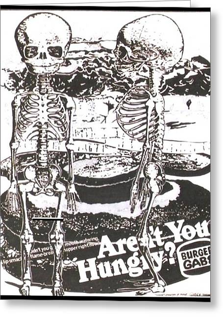 Hamburger Drawings Greeting Cards - Skeleton of Infant Greeting Card by Gabe Art Inc
