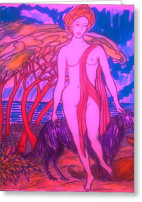 Gay Art Framed Giclee On Canvas Greeting Cards - Sketch    30 Greeting Card by Gunter  Hortz