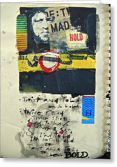 Typewriter Mixed Media Greeting Cards - Sketchbook 2  pg 0 Greeting Card by Cliff Spohn