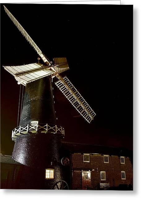 Flour Greeting Cards - Skidby Flour Mill At Night, Skidby Greeting Card by John Short