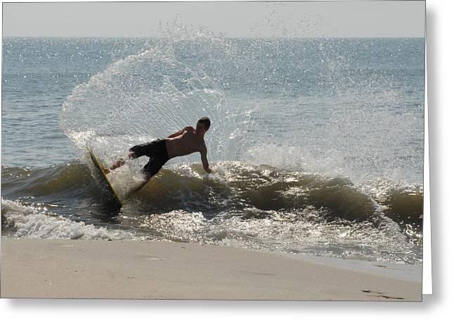 Best Sellers -  - Kite Surfing Greeting Cards - Skimboarding 35 Greeting Card by Joyce StJames