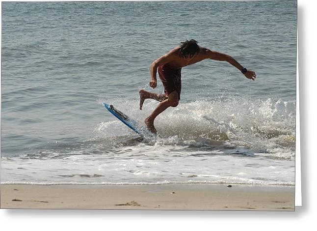 Kite Surfing Greeting Cards - Skimboarding 55 Greeting Card by Joyce StJames