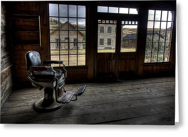 Miners Ghost Greeting Cards - Skinners Saloon - Bannack Ghost Town Greeting Card by Daniel Hagerman