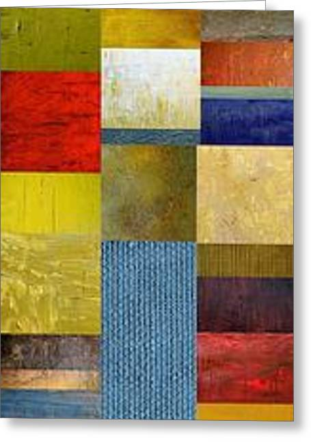 Layers Greeting Cards - Skinny Color Study ll Greeting Card by Michelle Calkins