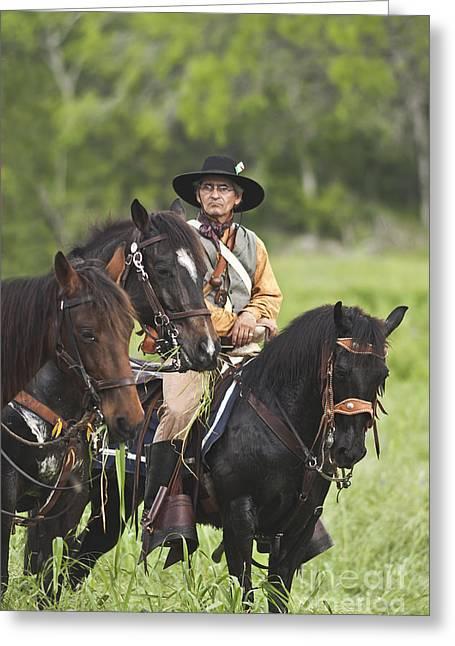 Goliad Texas Greeting Cards - Skirmish at Presidio Greeting Card by Kim Henderson