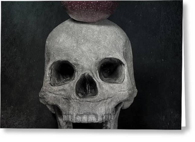 skull and apple Greeting Card by Joana Kruse