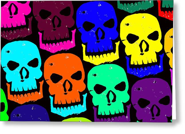 Cackle Greeting Cards - Skulls Greeting Card by Jame Hayes