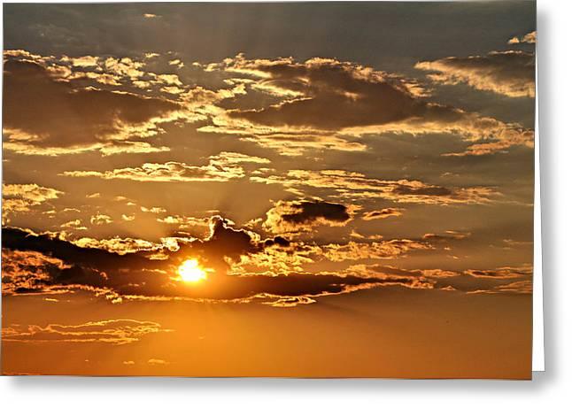 Sky Ablaze 1 Greeting Card by Marty Koch