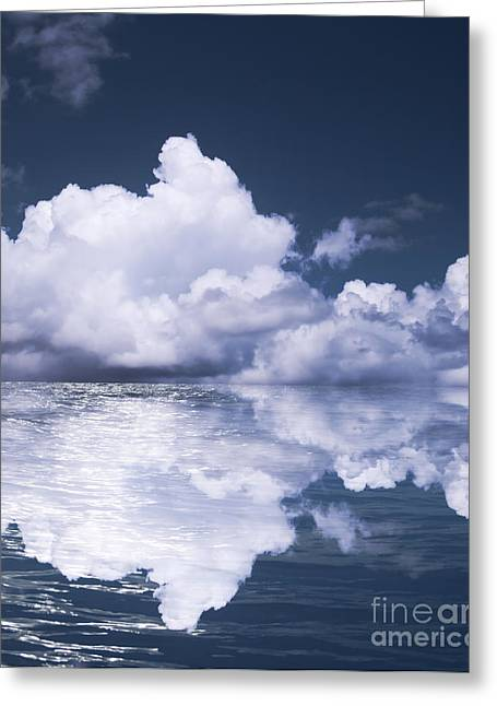 Abstracts Art Photographs Greeting Cards - Sky and ocean Greeting Card by Blink Images