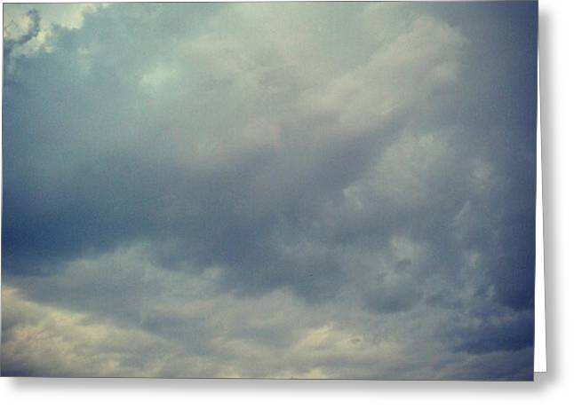 #sky #clouds #nature #andrography Greeting Card by Kel Hill