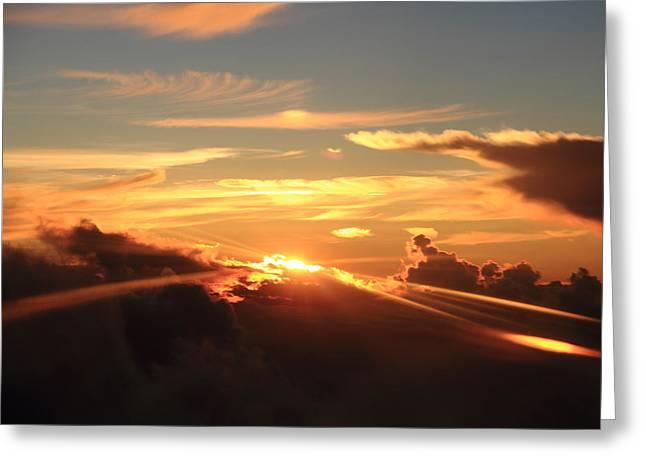 Rahul Manglekar Greeting Cards - Sky Colours  Greeting Card by Rahul Manglekar