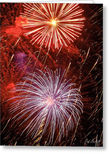 4th July Greeting Cards - Sky Explosion Greeting Card by Phill  Doherty