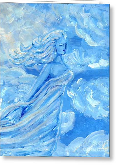 Golds Sculptures Greeting Cards - Sky Goddess Greeting Card by Cassandra Geernaert