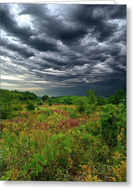 Summer Storm Greeting Cards - Sky High Greeting Card by Phil Koch