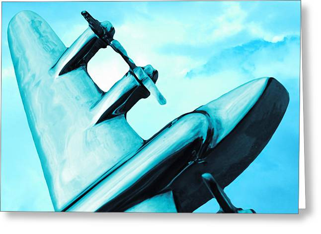 Sky Plane Greeting Card by Slade Roberts